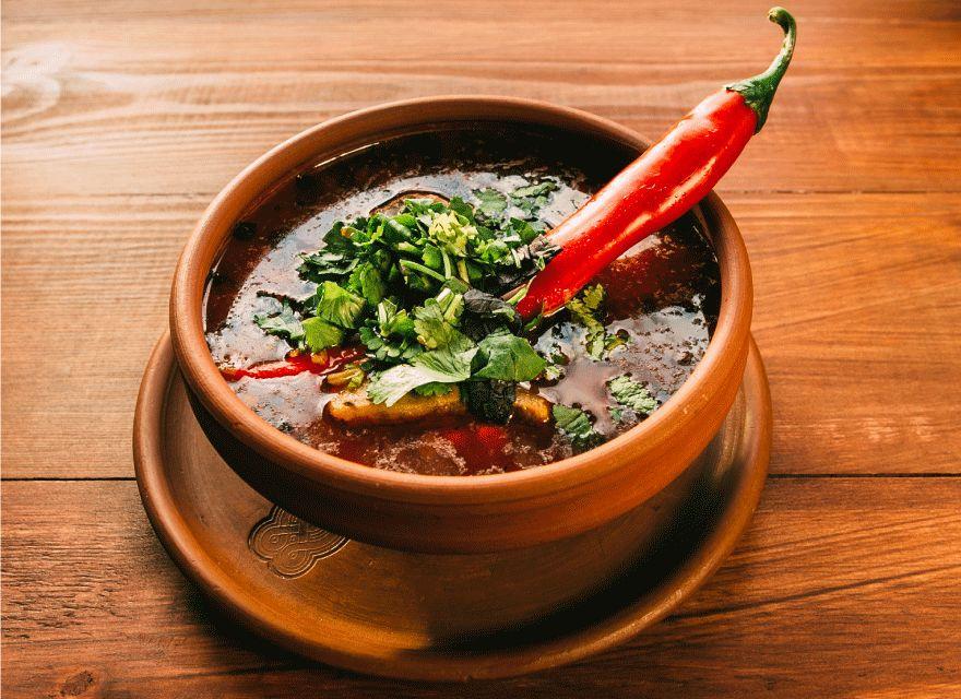 Прирава фарш, сало, суп Харчо